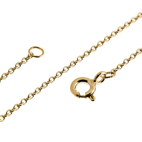 9ct yellow gold fine trace chain necklace