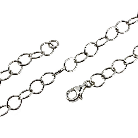 Trace 6.26mm Open Link Chain Necklace or Bracelet from the Necklaces collection at Argenteus Jewellery