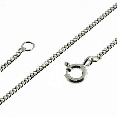 Curb 1.2mm Extender Fine Filed Chain Necklace