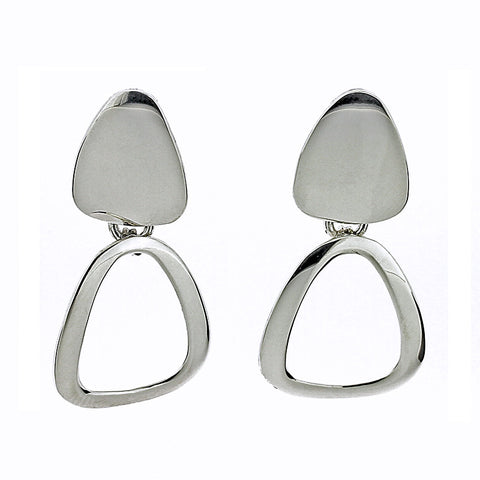Rounded Triangle Links Earrings from the Earrings collection at Argenteus Jewellery
