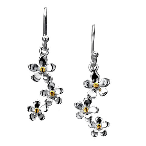 Trio Daisies Drop Earrings from the Earrings collection at Argenteus Jewellery