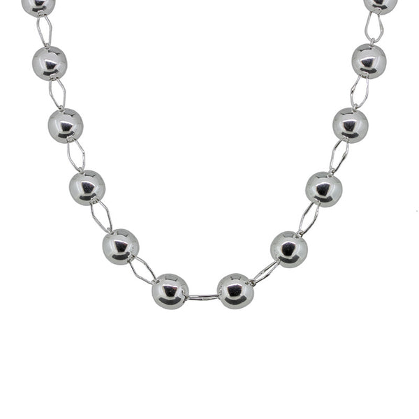 Beads and Ellipse Wire Links Necklace from the Necklaces collection at Argenteus Jewellery
