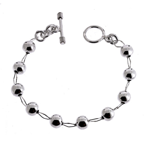 Beads and Ellipse Wire Links Bracelet from the Bracelets collection at Argenteus Jewellery