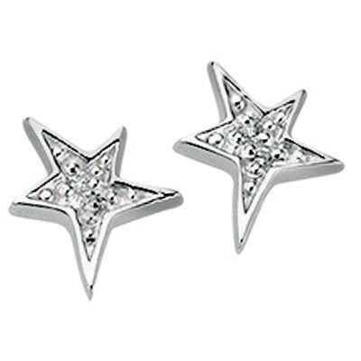 Crystal Star Stud Earrings from the Earrings collection at Argenteus Jewellery