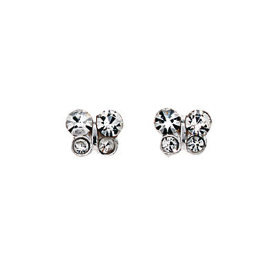 Cubic Zirconia Butterfly Stud Earrings from the Earrings collection at Argenteus Jewellery