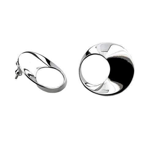 Twisted Circle Stud Earrings from the Earrings collection at Argenteus Jewellery