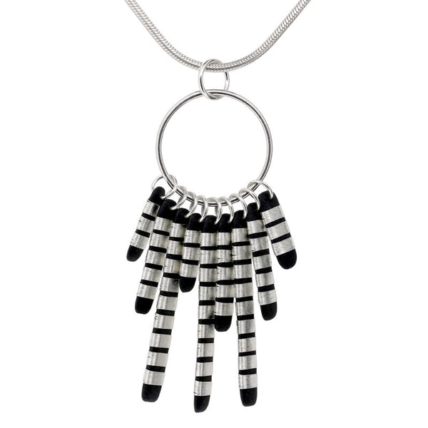 Tracey Birchwood - Nine Tassle Drops Necklet from the Necklaces collection at Argenteus Jewellery