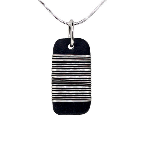 Tracey Birchwood - 17mm Drop Random Band Necklet from the Necklaces collection at Argenteus Jewellery