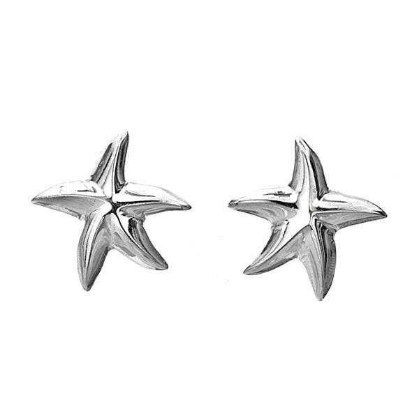 Small Starfish Stud Earrings from the Earrings collection at Argenteus Jewellery