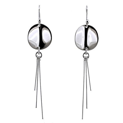 Creased Disc and Three Drops Earrings from the Earrings collection at Argenteus Jewellery