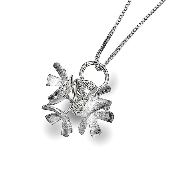 Flower Cluster Drop Necklet from the Necklaces collection at Argenteus Jewellery