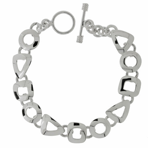 Circle, Triangle and Square Links Bracelet from the Bracelets collection at Argenteus Jewellery