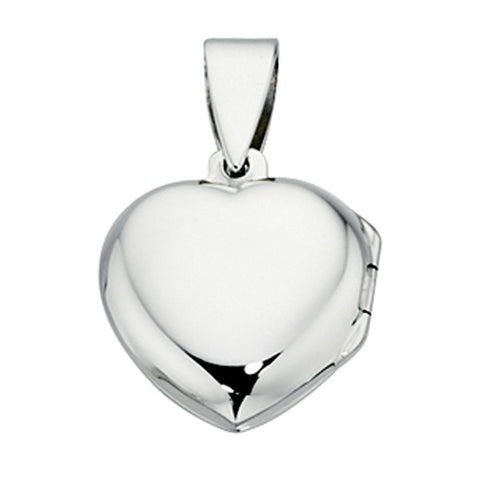 Sterling Silver Polished Plain Heart Locket from the Pendants collection at Argenteus Jewellery