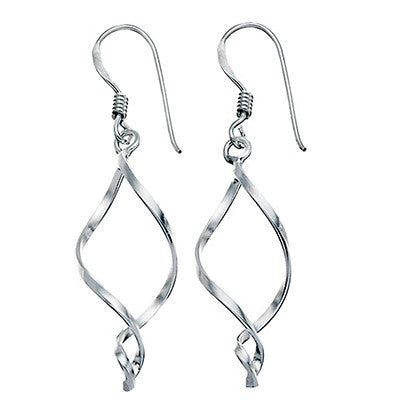 Sterling Silver Flame Drop Earrings from the Earrings collection at Argenteus Jewellery