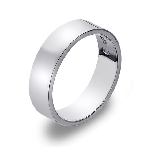 6mm Flat Band Ring from the Rings collection at Argenteus Jewellery