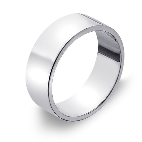 7mm Flat Band Ring from the Rings collection at Argenteus Jewellery
