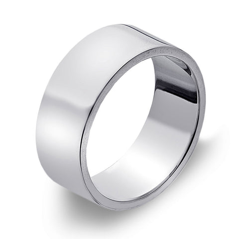 8mm Flat Band Ring from the Rings collection at Argenteus Jewellery