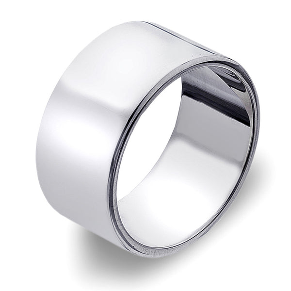 10mm Flat Band Ring from the Rings collection at Argenteus Jewellery