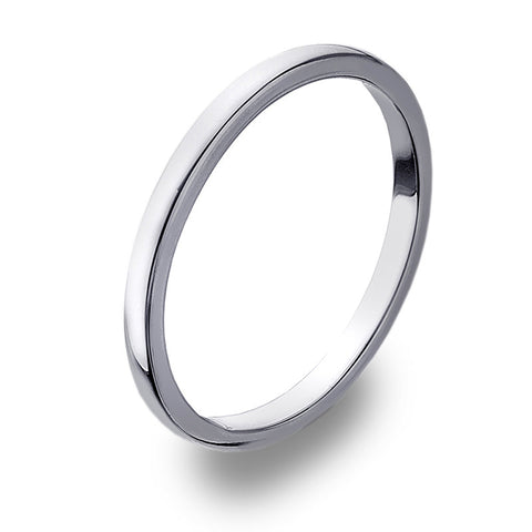 2mm D-Profile Band Ring from the Rings collection at Argenteus Jewellery