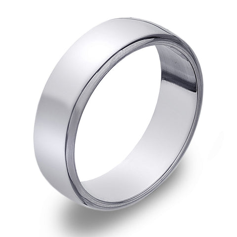 6mm D-Profile Band Ring from the Rings collection at Argenteus Jewellery