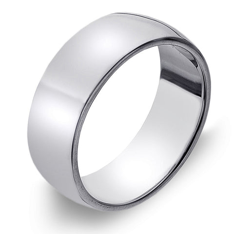 7mm D-Profile Band Ring from the Rings collection at Argenteus Jewellery