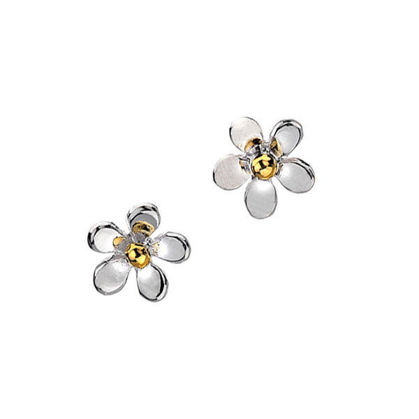Daisy Stud Silver Earrings from the Earrings collection at Argenteus Jewellery
