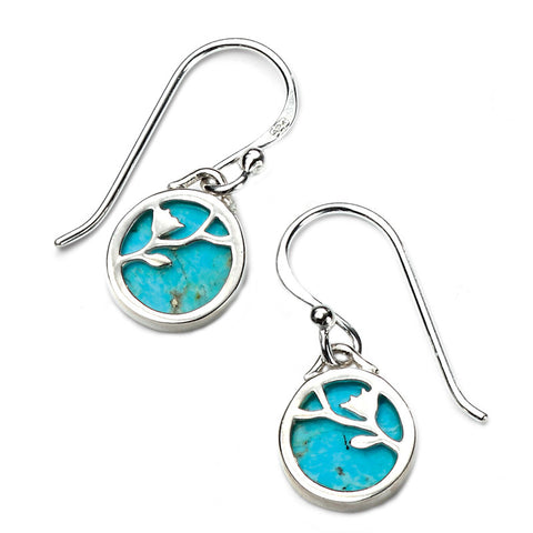 Turquoise Round Drop Earrings from the Earrings collection at Argenteus Jewellery