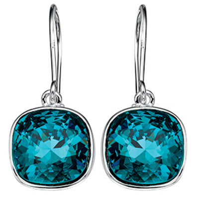 Marine Blue Swarovski  Earrings from the Earrings collection at Argenteus Jewellery