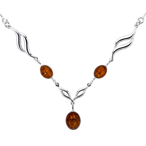 Amber Ovals Necklace from the Necklaces collection at Argenteus Jewellery