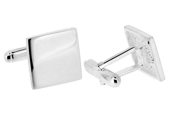 Sterling Silver Flat Square Cufflinks from the Cufflinks collection at Argenteus Jewellery