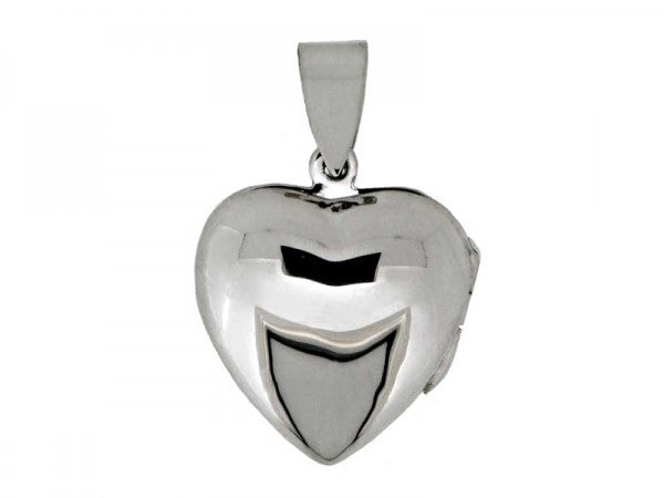 Sterling Silver Plain Heart Locket from the Pendants collection at Argenteus Jewellery