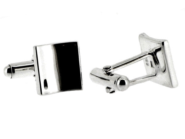 Sterling Silver Curved Square Cufflinks from the Cufflinks collection at Argenteus Jewellery