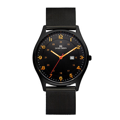 Danish Design Men's Watch IQ64Q956 Black And Orange from the Watches collection at Argenteus Jewellery