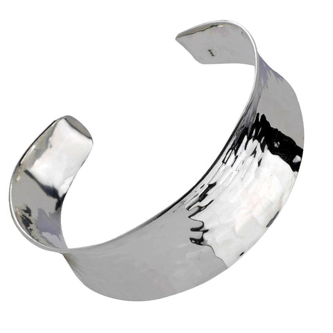 Concave Torc Bangle - Hammer Finish from the Bangles collection at Argenteus Jewellery