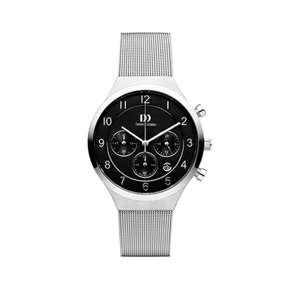 Danish Design Men's Watch IQ63Q1113 Black And Steel from the Watches collection at Argenteus Jewellery