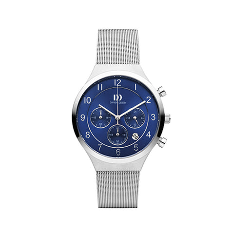 Danish Design Men's Watch IQ68Q1113 Blue And Steel from the Watches collection at Argenteus Jewellery