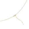 Gold Long Oval Necklace from the Necklaces collection at Argenteus Jewellery