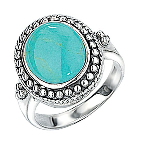 Turquoise Round Ring from the Rings collection at Argenteus Jewellery