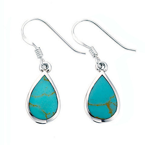 Turquoise Teardrop Earrings from the Earrings collection at Argenteus Jewellery