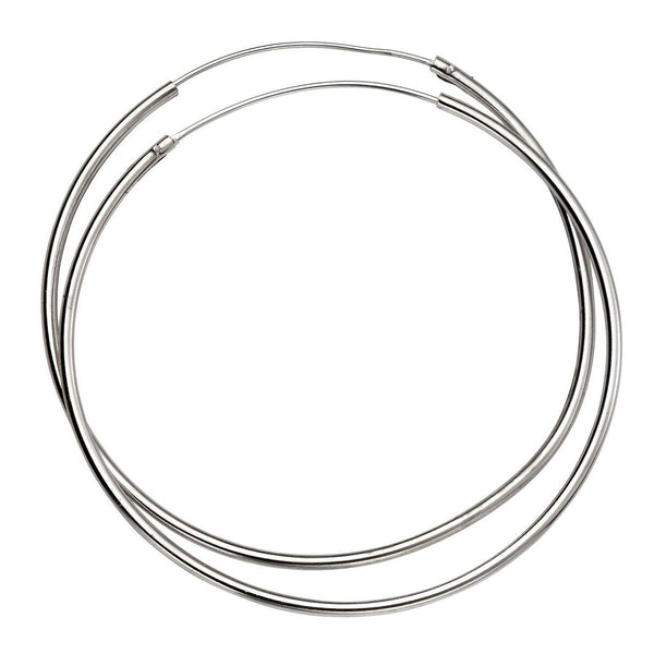 50mm Fine Sterling Silver Hoop Earrings from the Earrings collection at Argenteus Jewellery