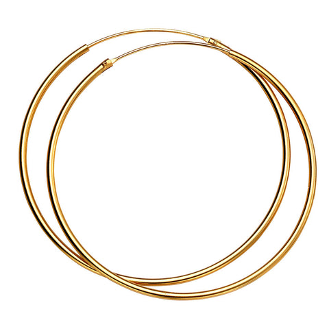 50mm Gold-Plated Silver Hoop Earrings