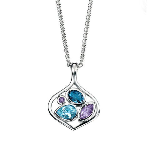 Trio Drop Necklace from the Necklaces collection at Argenteus Jewellery