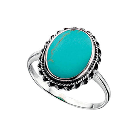 Turquoise Oval Ring from the Rings collection at Argenteus Jewellery