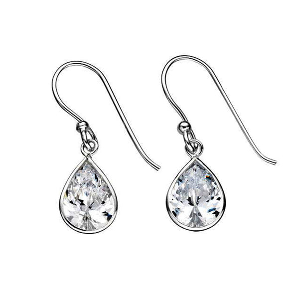 Cubic Zirconia Teardrop Earrings from the Earrings collection at Argenteus Jewellery