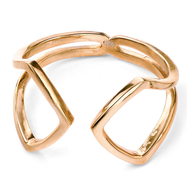 Open Ring - Gold Plate from the Rings collection at Argenteus Jewellery