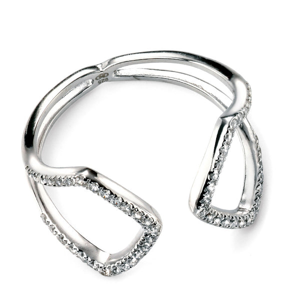 Cubic Zirconia Open Ring - Sterling Silver from the Rings collection at Argenteus Jewellery