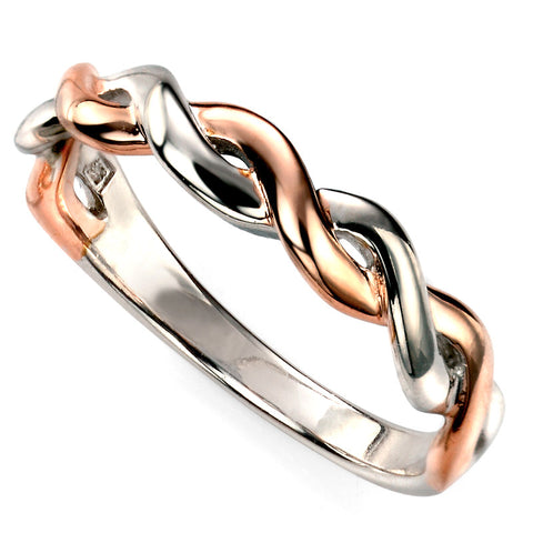 Rose Gold Plate Twist Ring