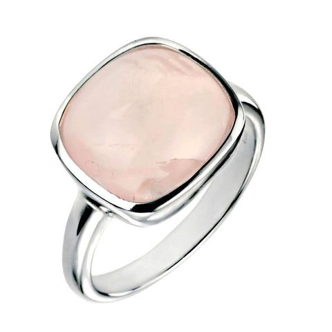 Square Rose Quartz Ring from the Rings collection at Argenteus Jewellery