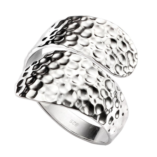 Wrap Ring - Hammer Finish from the Rings collection at Argenteus Jewellery