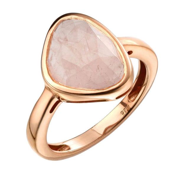 Triangle Rose Quartz Ring from the Rings collection at Argenteus Jewellery